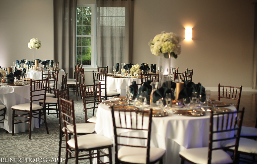 Wedding Reception Decorations And Table Settings At Bride Groom Portrait Photos A Warrington Country Club